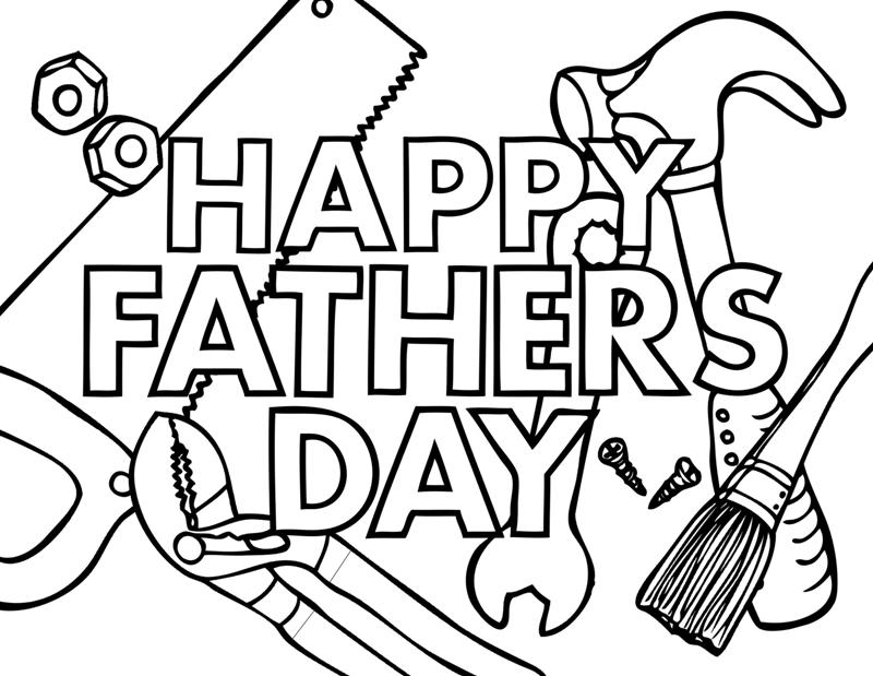 fathers day card coloring pages - photo#4