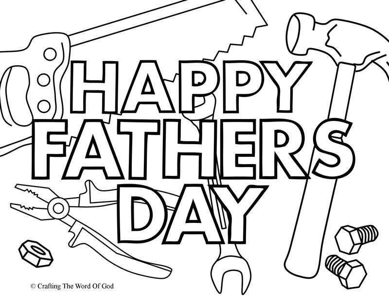 Happy Fathers Day 2- Coloring Page « Crafting The Word Of God