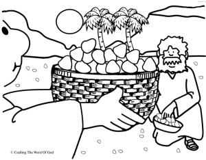 Mana From Heaven Coloring Page