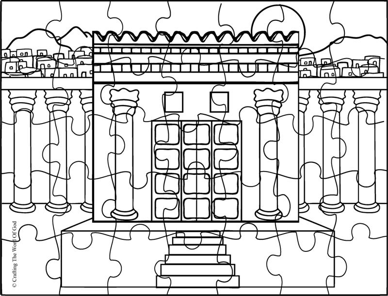 Rebuilding the temple crafting the word of god for Building the temple coloring pages