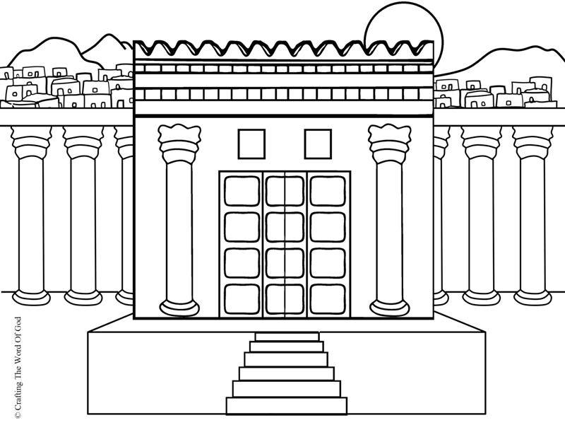 Solomons temple coloring page crafting the word of god for Building the temple coloring pages