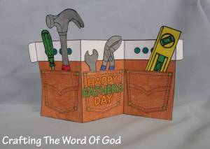 Tool Belt Fathers Day Card