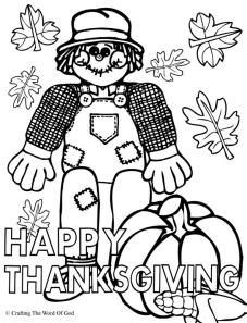 Happy Thanksgiving 1- Coloring Page « Crafting The Word Of God