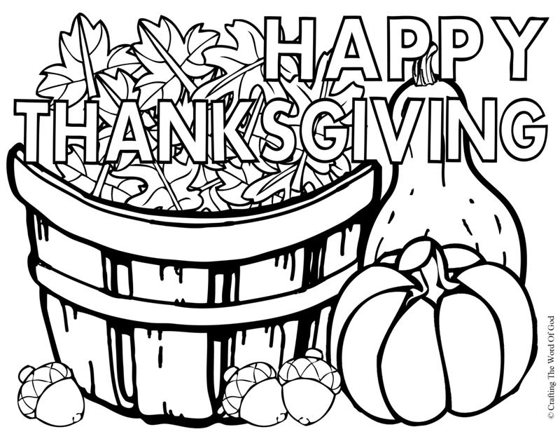 Happy thanksgiving 3 coloring page crafting the word of god for Thanksgiving coloring pages for children s church