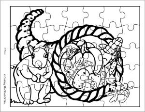 Thanksgiving Puzzle 1- Activity Sheet « Crafting The Word