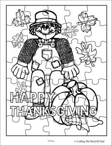 Thanksgiving Puzzle 2- Activity Sheet « Crafting The Word