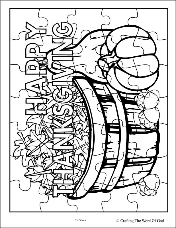 Thanksgiving puzzle 4 activity sheet crafting the word for Thanksgiving sunday school coloring pages