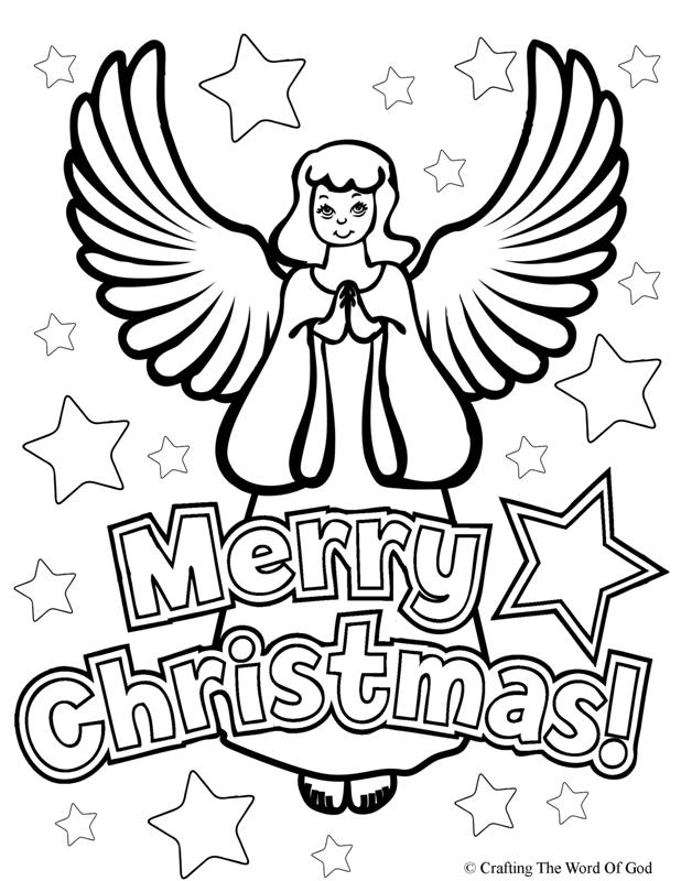 Merry christmas crafting the word of god for Angel coloring pages