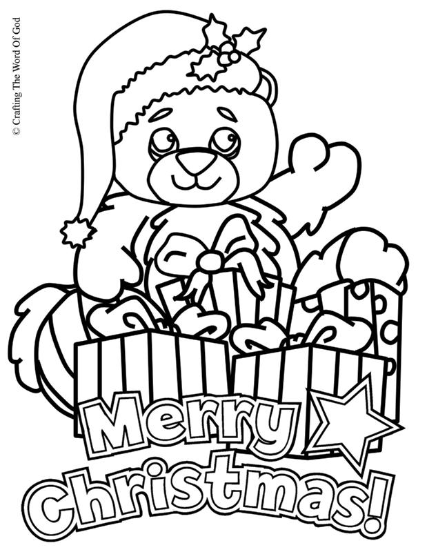 christmas bear coloring page crafting the word of god Bear Prayer christmas bear coloring page