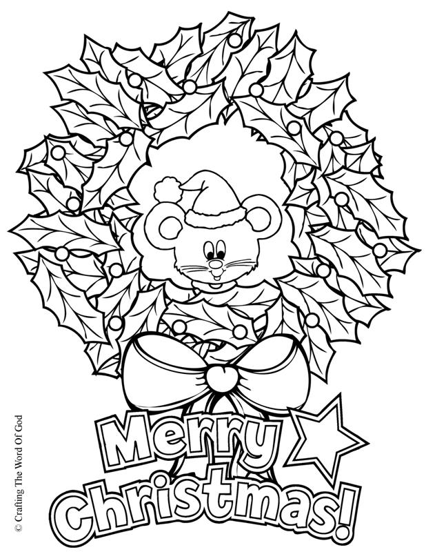 Christmas Wreath, Coloring Page « Crafting The Word Of God