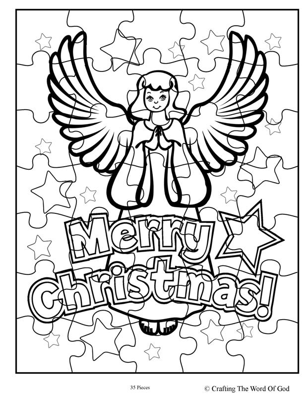 christmas coloring pages puzzles - photo#27