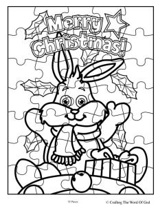 Christmas Bunny Puzzle- Activity Sheet « Crafting The Word