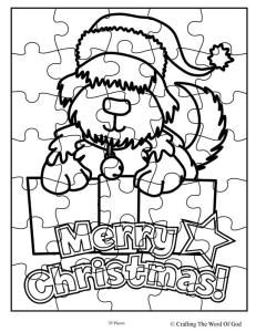 Christmas Puppy Puzzle