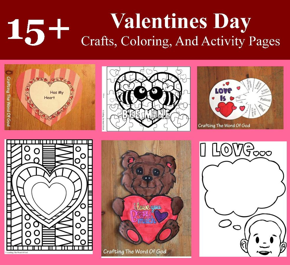 valentins day crafts an coloring pages - photo #2