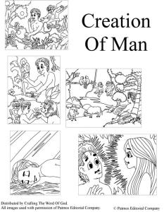 Creation Of Man Coloring Pages