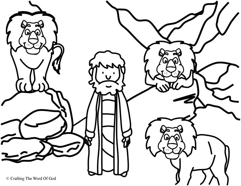 daniel in the lions den coloring page  crafting the word of god