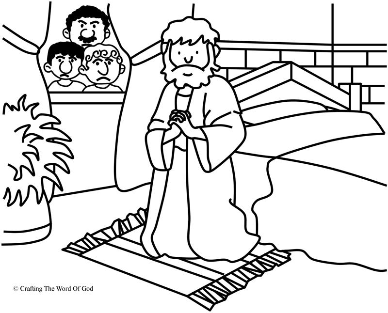 Daniel Prayed Coloring Page Crafting The Word Of God
