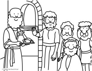 Daniel Refused The Kings Food- Coloring Page « Crafting