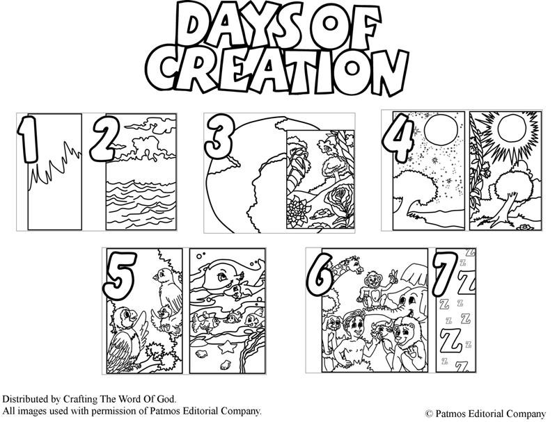 Free creation of god 1 day coloring pages