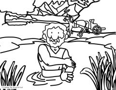 naaman is healed coloring page crafting the word of god