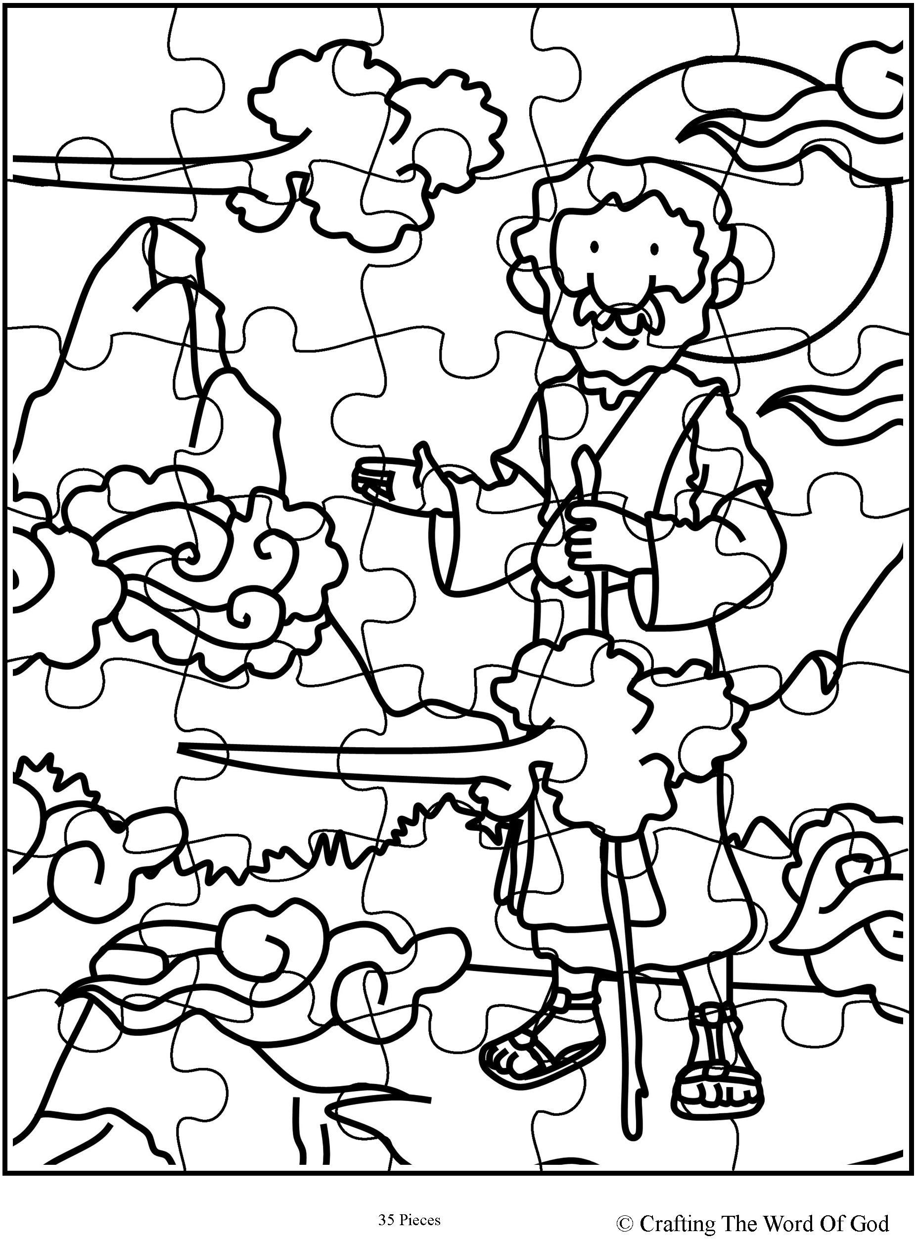 Similiar Elijah Coloring Pages And Crafts Keywords