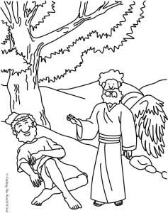 Elijah Fed By God Coloring Page