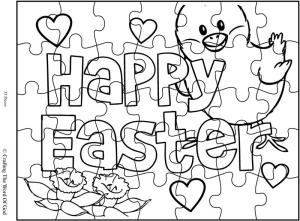 Easter coloring pages games ~ Happy Easter 2 Puzzle- Activity Sheet « Crafting The Word ...