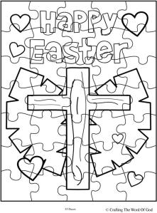 Happy Easter 3 Puzzle- Activity Sheet « Crafting The Word
