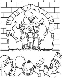 the fiery furnace coloring page crafting the word of god - Bible Story Coloring Pages Daniel