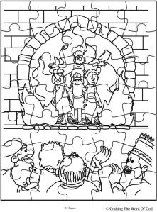 Fiery Furnace Crafting The Word Of God Shadrach Meshach And Abednego Coloring Page