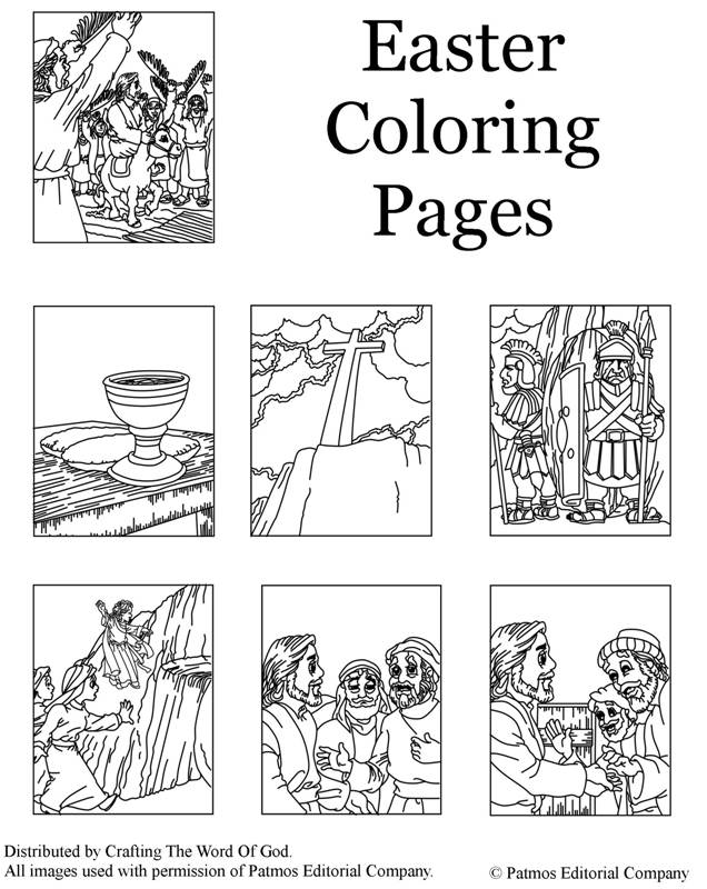 Jesus Easter Story Coloring Pages Preschool Easter Coloring Pages ...