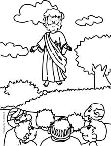 Jesus Ascension- Coloring Page « Crafting The Word Of God