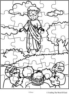 Jesus Ascension Puzzle Activity Sheet  Crafting The Word Of God