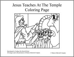 Jesus Teaches At The Temple Coloring Page  Crafting The Word Of God