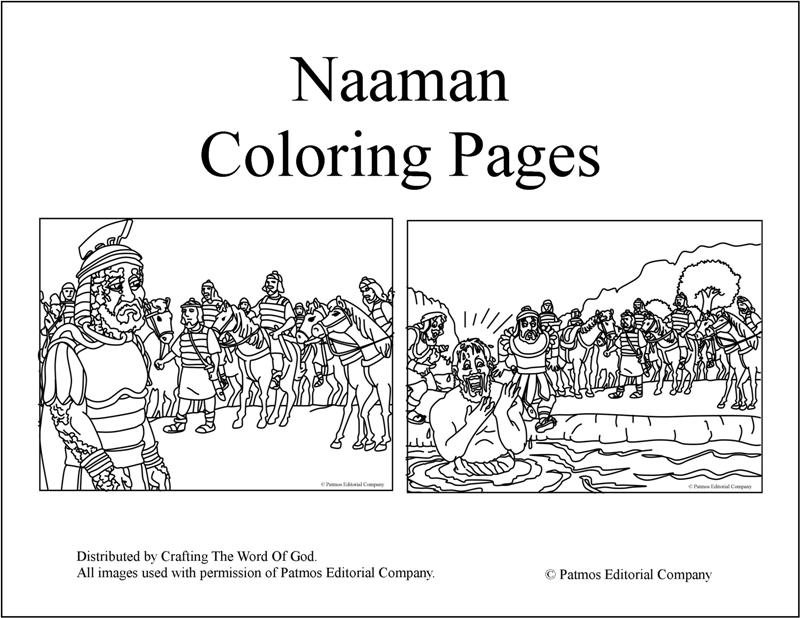 naaman bible coloring pages - photo #3