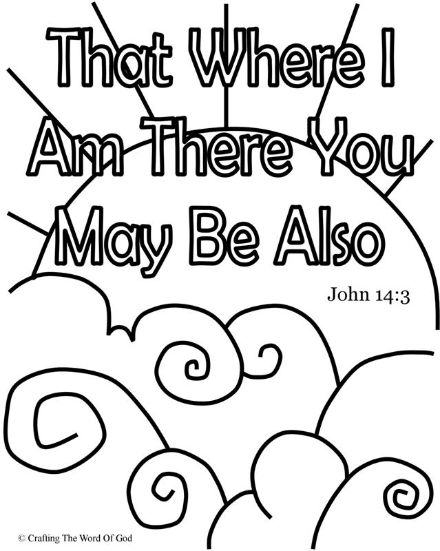 i am coloring pages - john 14 3 crafting the word of god