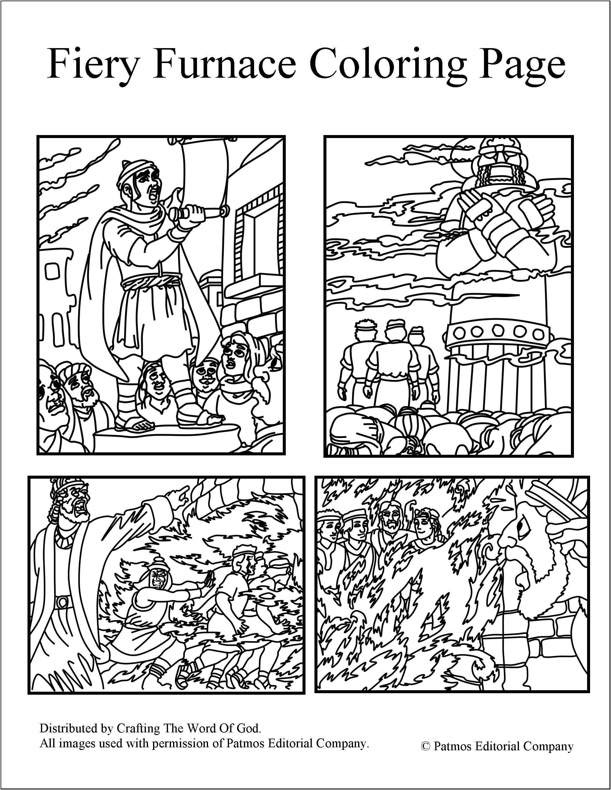 Free Coloring Pages Of Bible Story The Fiery Furnace