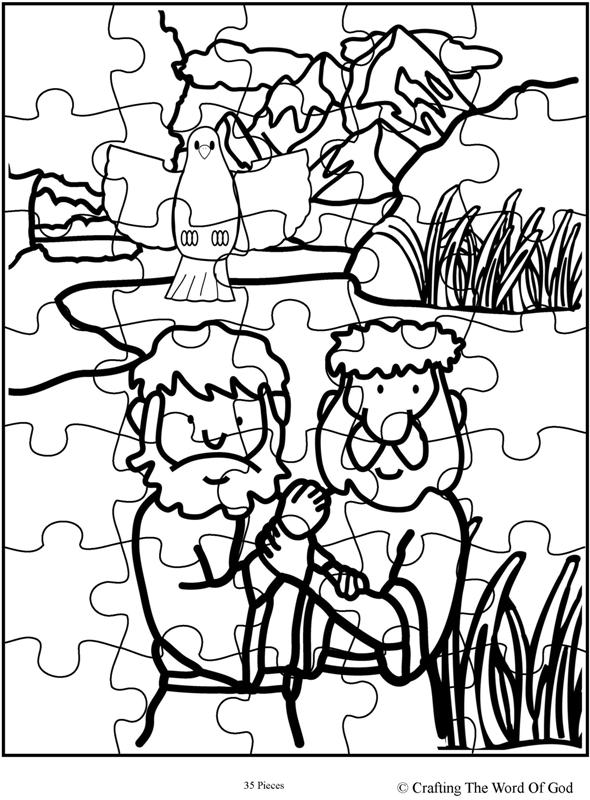 Jesus Baptism Puzzle Activity Sheet 171 Crafting The Word