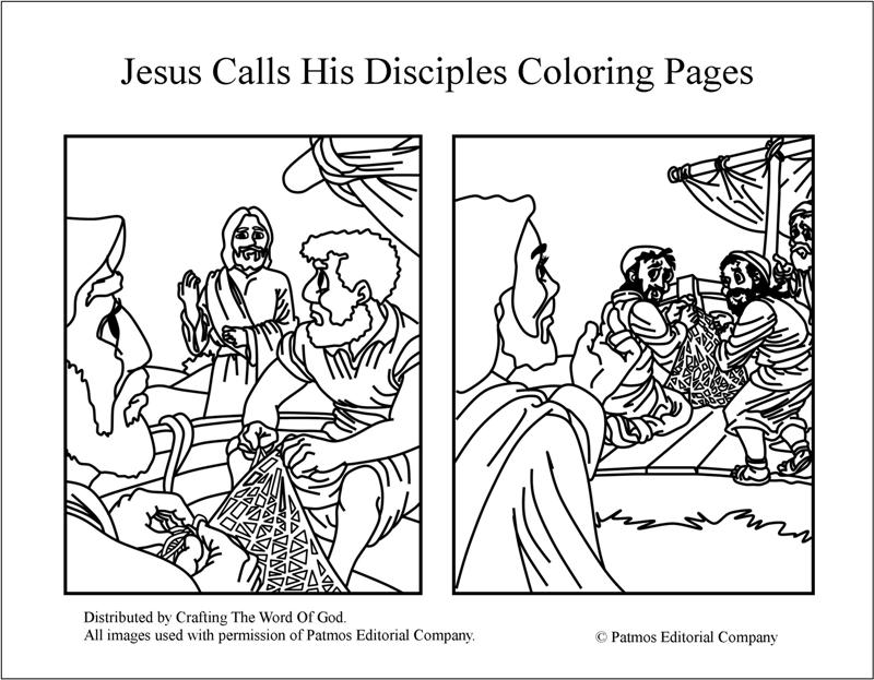 Jesus calls his disciples coloring pages