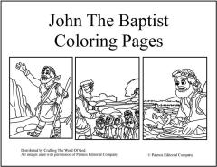 John The Baptist Coloring Pages Crafting Word Of God