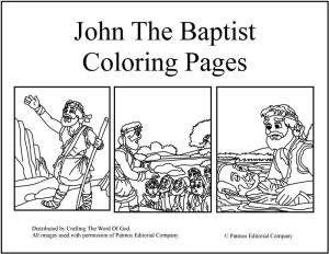John The Baptist Coloring Pages