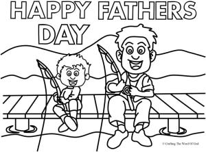 Happy Fathers Day 3 Coloring Page Crafting The Word Of God