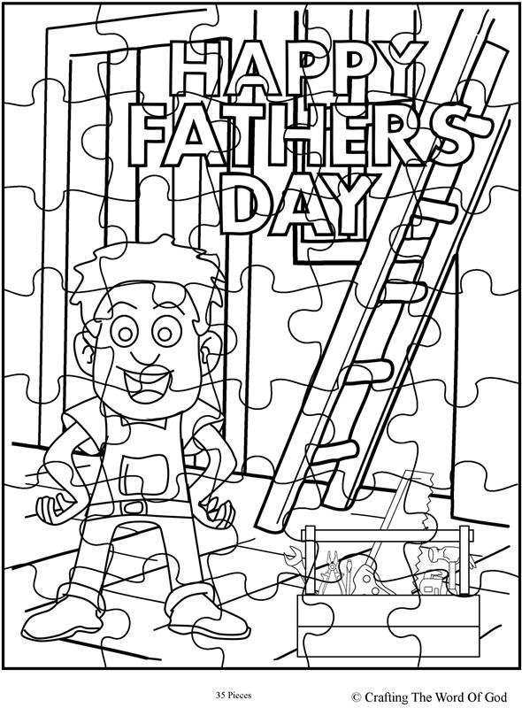 Happy Fathers Day 2 Puzzle- Activity Sheet « Crafting The
