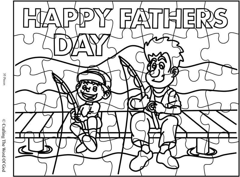 Happy Fathers Day Coloring Page « Crafting The Word Of God