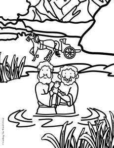 Philip And The Ethiopian Coloring Page