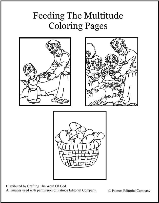Feeding The Multitude Coloring Pages