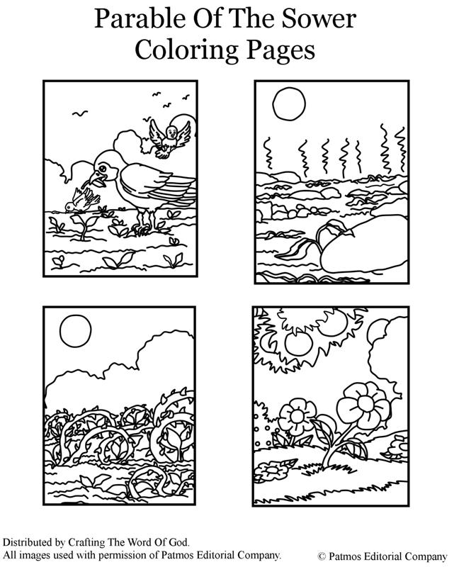 Parable Of The Sower Coloring Page Crafting The Word Of God