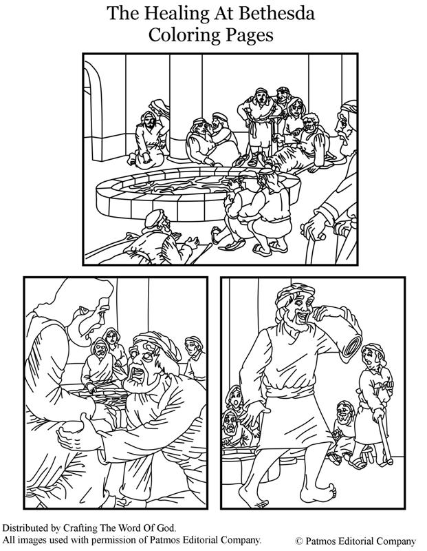 Free Coloring Pages Of Healing At The Pool Of Bethesda