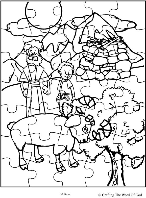 Abraham Offers Isaac Puzzle Activity