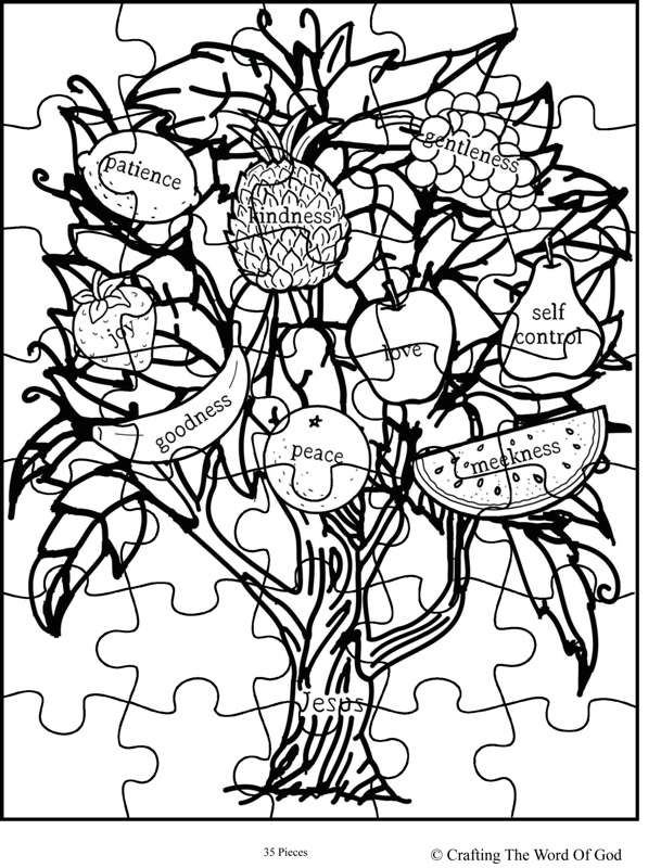 fruit of the spirit jesus is the vine puzzle